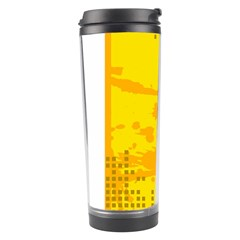 Texture Yellow Abstract Background Travel Tumbler by Nexatart