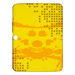 Texture Yellow Abstract Background Samsung Galaxy Tab 3 (10 1 ) P5200 Hardshell Case  by Nexatart