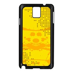 Texture Yellow Abstract Background Samsung Galaxy Note 3 N9005 Case (black) by Nexatart