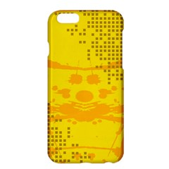 Texture Yellow Abstract Background Apple Iphone 6 Plus/6s Plus Hardshell Case by Nexatart