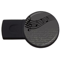 Music Clef Background Texture Usb Flash Drive Round (2 Gb)