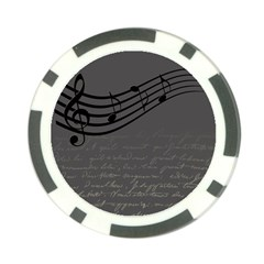 Music Clef Background Texture Poker Chip Card Guard (10 Pack)