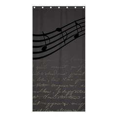 Music Clef Background Texture Shower Curtain 36  X 72  (stall)  by Nexatart