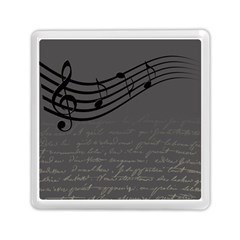 Music Clef Background Texture Memory Card Reader (square)  by Nexatart
