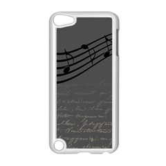 Music Clef Background Texture Apple Ipod Touch 5 Case (white) by Nexatart
