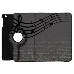 Music Clef Background Texture Apple Ipad Mini Flip 360 Case by Nexatart