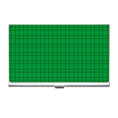 Pattern Green Background Lines Business Card Holders