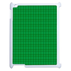 Pattern Green Background Lines Apple Ipad 2 Case (white) by Nexatart