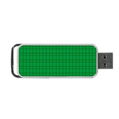 Pattern Green Background Lines Portable Usb Flash (one Side) by Nexatart