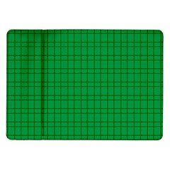 Pattern Green Background Lines Samsung Galaxy Tab 10 1  P7500 Flip Case by Nexatart