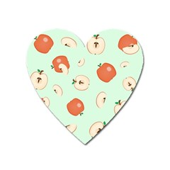 Apple Fruit Background Food Heart Magnet by Nexatart