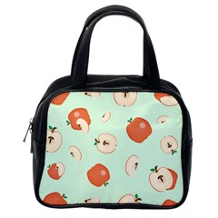 Apple Fruit Background Food Classic Handbags (one Side)