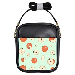 Apple Fruit Background Food Girls Sling Bags by Nexatart