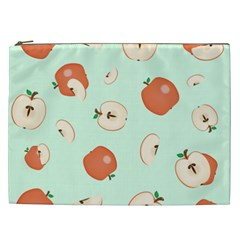 Apple Fruit Background Food Cosmetic Bag (xxl)  by Nexatart
