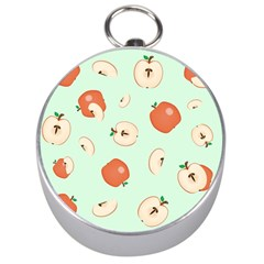 Apple Fruit Background Food Silver Compasses by Nexatart
