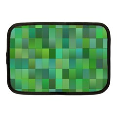 Green Blocks Pattern Backdrop Netbook Case (medium)  by Nexatart