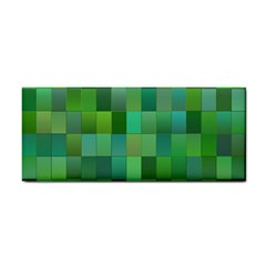 Green Blocks Pattern Backdrop Cosmetic Storage Cases by Nexatart