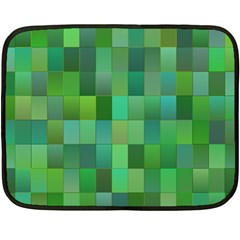 Green Blocks Pattern Backdrop Double Sided Fleece Blanket (mini)  by Nexatart