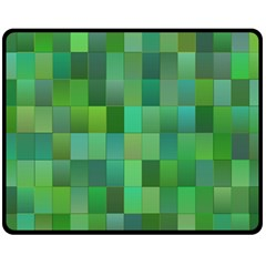 Green Blocks Pattern Backdrop Fleece Blanket (medium)  by Nexatart