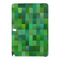 Green Blocks Pattern Backdrop Samsung Galaxy Tab Pro 10 1 Hardshell Case by Nexatart