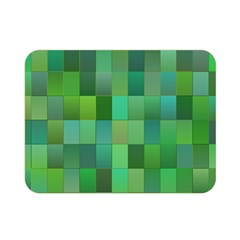 Green Blocks Pattern Backdrop Double Sided Flano Blanket (mini)  by Nexatart