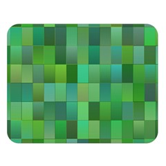 Green Blocks Pattern Backdrop Double Sided Flano Blanket (large)  by Nexatart