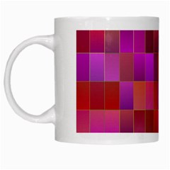 Shapes Abstract Pink White Mugs by Nexatart