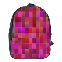 Shapes Abstract Pink School Bags(large)  by Nexatart