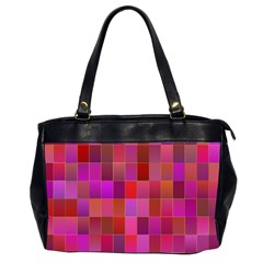 Shapes Abstract Pink Office Handbags (2 Sides)  by Nexatart