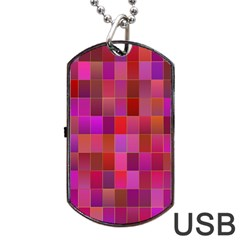 Shapes Abstract Pink Dog Tag Usb Flash (one Side) by Nexatart