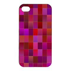 Shapes Abstract Pink Apple Iphone 4/4s Hardshell Case by Nexatart