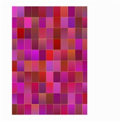 Shapes Abstract Pink Small Garden Flag (two Sides) by Nexatart