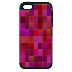 Shapes Abstract Pink Apple Iphone 5 Hardshell Case (pc+silicone) by Nexatart