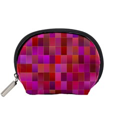 Shapes Abstract Pink Accessory Pouches (small)  by Nexatart