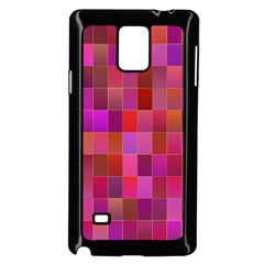 Shapes Abstract Pink Samsung Galaxy Note 4 Case (black)