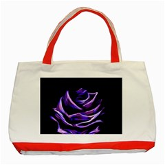 Rose Flower Design Nature Blossom Classic Tote Bag (red) by Nexatart
