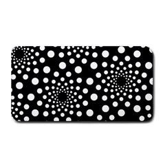 Dot Dots Round Black And White Medium Bar Mats by Nexatart
