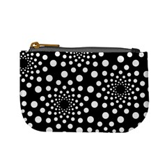 Dot Dots Round Black And White Mini Coin Purses by Nexatart
