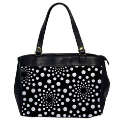Dot Dots Round Black And White Office Handbags by Nexatart
