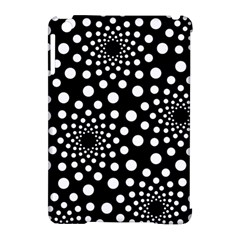Dot Dots Round Black And White Apple Ipad Mini Hardshell Case (compatible With Smart Cover) by Nexatart
