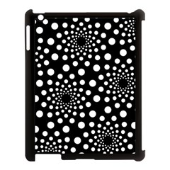 Dot Dots Round Black And White Apple Ipad 3/4 Case (black) by Nexatart