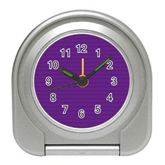 Pattern Violet Purple Background Travel Alarm Clocks by Nexatart