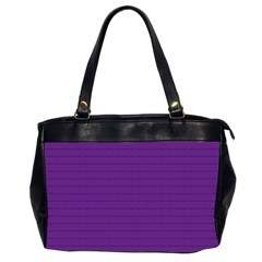 Pattern Violet Purple Background Office Handbags (2 Sides)  by Nexatart