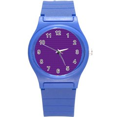 Pattern Violet Purple Background Round Plastic Sport Watch (s)