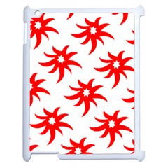 Star Figure Form Pattern Structure Apple Ipad 2 Case (white) by Nexatart