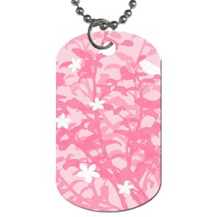 Plant Flowers Bird Spring Dog Tag (two Sides) by Nexatart