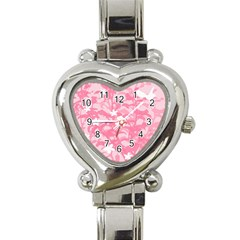Plant Flowers Bird Spring Heart Italian Charm Watch by Nexatart