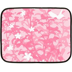Plant Flowers Bird Spring Double Sided Fleece Blanket (mini)  by Nexatart