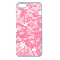 Plant Flowers Bird Spring Apple Seamless Iphone 5 Case (color) by Nexatart