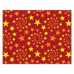 Star Stars Pattern Design Rectangular Jigsaw Puzzl by Nexatart